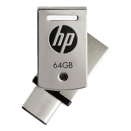 Pendrive HP x5000m 64GB 3.1 Gen 1 prateado