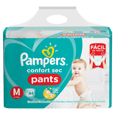 Fraldas Pampers Confort Sec Pants M 84u