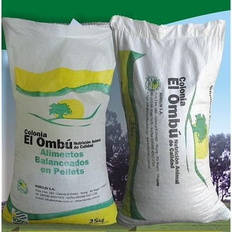 Alimento Colonia El Ombú Para Conejos X 25 Kg Línea Premium