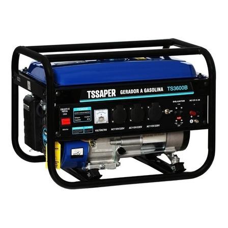 Gerador portátil Tssaper TS3600B 3500W monofásico com tecnologia AVR 110V/220V