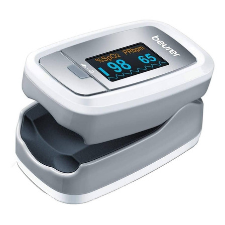 Oxímetro de pulso para dedo Beurer PO 30 blanco