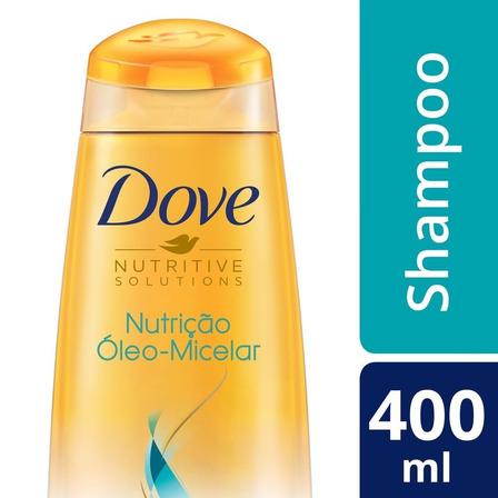 Shampoo Nutrição Óleo Micelar Nutrição Dove 400ml