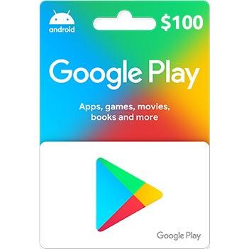 Tarjeta De Regalo Google Play $100