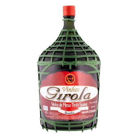 Vinho Brasileiro Tinto Suave Girola Garrafa 4,5l