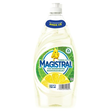Detergente Magistral Ultra Pureza Activa sintético en botella 750mL