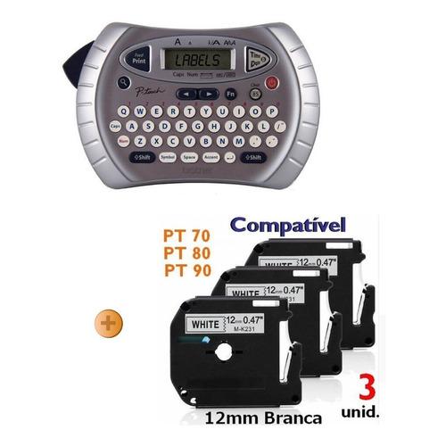 Rotulador Eletrônico Brother Pt-70 + 3 Fita Extra Compativel