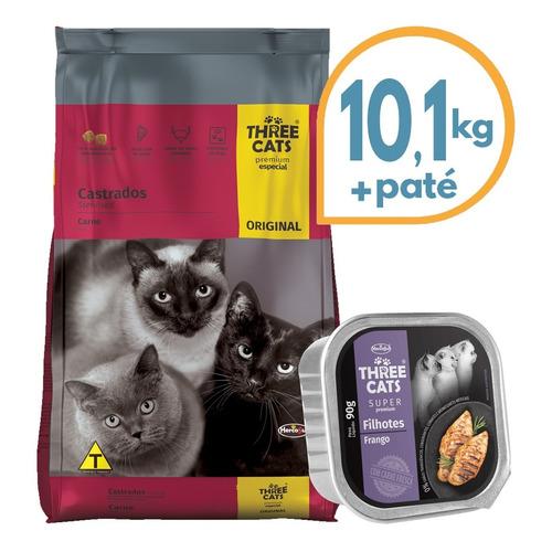 Alimento Gato Castrado Three Cats 10 Kg + Regalo + Envío