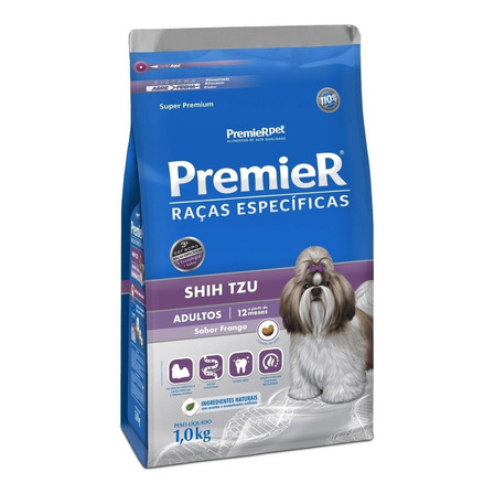 Alimento PremieR Super Premium Raças Específicas Shih Tzu para cachorro adulto de raça pequena sabor frango em saco de 1kg