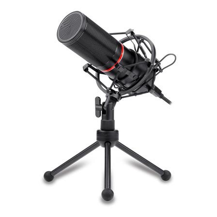 Micrófono Redragon Blazar GM300 cardioide, unidireccional negro