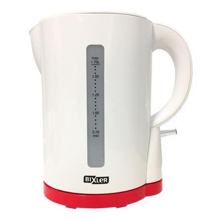 Pava eléctrica Bixler PEB-03A color blanca y roja 220V 1.7L