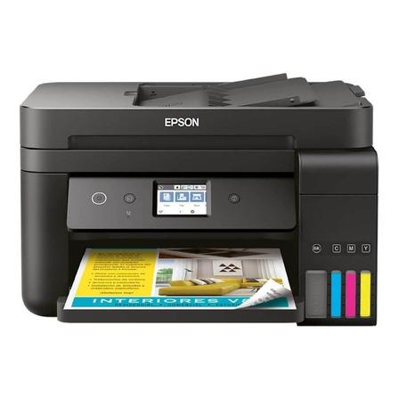 Impresora a color multifunción Epson EcoTank L6191 con wifi negra 110V