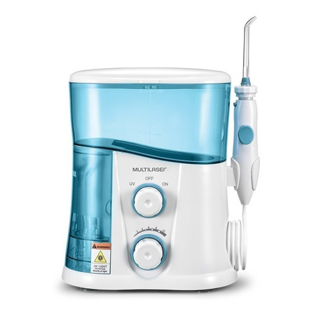 Irrigador oral Multilaser HC038 branco e azul 110V/220V