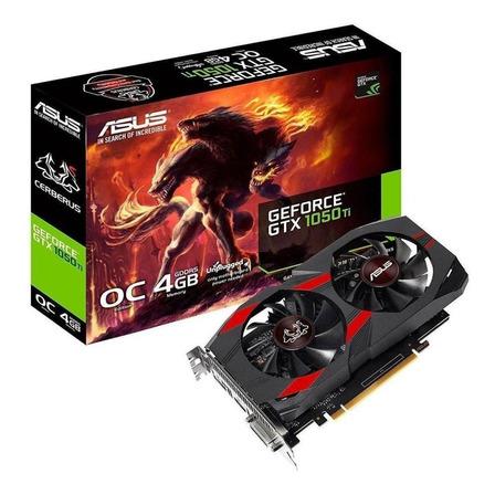 Placa de vídeo Nvidia Asus  Cerberus GeForce 10 Series GTX 1050 Ti CERBERUS-GTX1050TI-O4G OC Edition 4GB