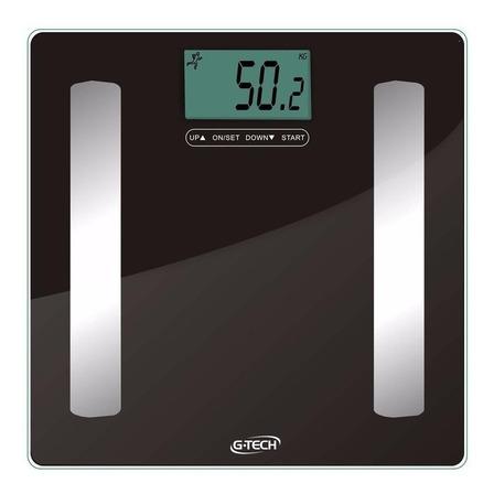 Balança corporal digital G-Tech Balgl Pro preta e prateada, hasta 150 kg