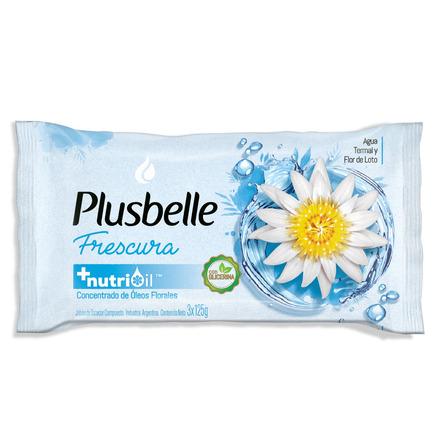Jabón en barra Plusbelle Frescura 125g pack x 3