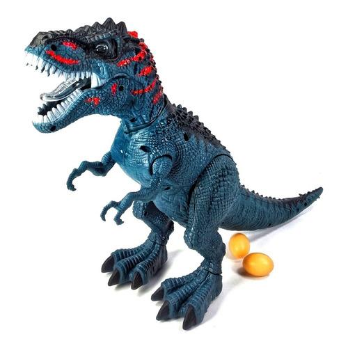 Dinosaurio Rex Juguete Robot Pone Huevos Camina Luz 4d Pilas