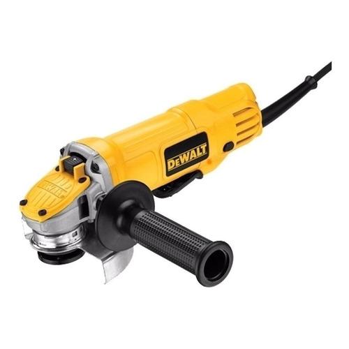 Miniesmeriladora angular DeWalt DWE4120 de 60Hz amarilla 900 W 127 V
