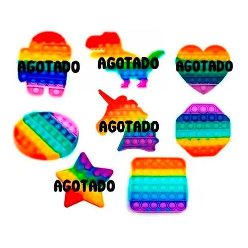 Pop It Arcoíris Fidget Toy Juego Antiestrés Unicornio