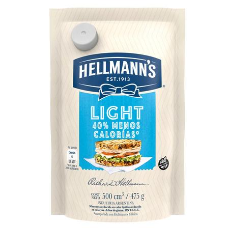 Mayonesa Hellmann's Light en doy pack 475g