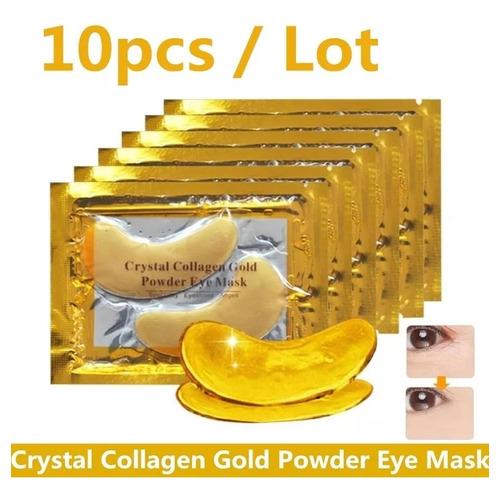 10 Colageno Ojos 24k Oro Gold Ojeras Bolsas Antiarrugas