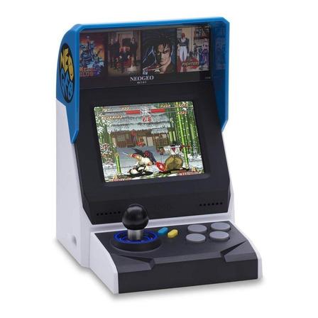 Consola SNK Neo Geo mini International Edition negra, gris y azul