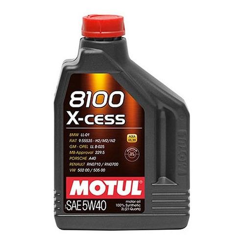 Aceite 5w40 8100 Motul  2 Lts Sintético Lubricante - Mileban