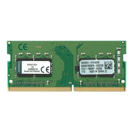 Memoria RAM 4GB 1x4GB Kingston KVR24S17S6/4 ValueRAM