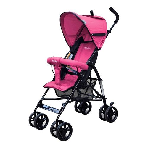 Cochecito de bebé Mega Baby Jupiter paragüitas rosa con chasis negro