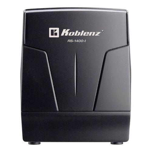 Regulador de voltaje Koblenz RS-1400-I 1400VA entrada y salida de 120V negro