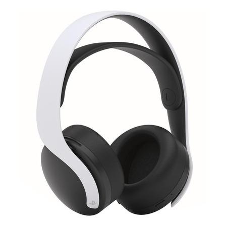 Headset gamer sem fio PlayStation Pulse 3D branco e preto