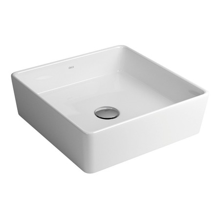 Bacha de baño de apoyar Deca L108 blanco 350mm x 350mm 110mm de alto