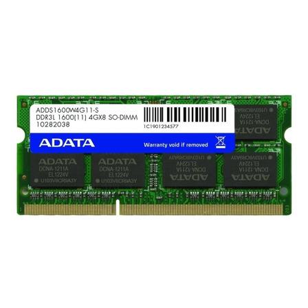 Memoria RAM Premier Series color Verde  4GB 1 Adata ADDS1600W4G11-S