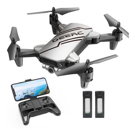 Mini drone DeeRC D20 con cámara HD   plateado 2 baterías