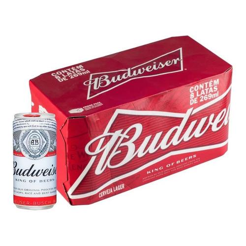Pack Cerveja 8 Unidades Lata 269ml Budweiser