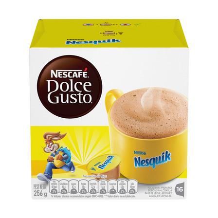 Cápsulas de chocolate nesquik Nescafé Dolce Gusto 16u