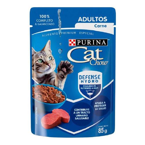 Alimento En Sobre Cat Chow Gato Adulto Carne De 85gr