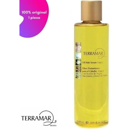 Terramar Óleo Tratamiento Para Cabello 3en1 Argan/macadamia