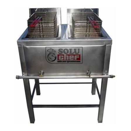 Freidora industrial a gas Soluchef FR00146 10L plata