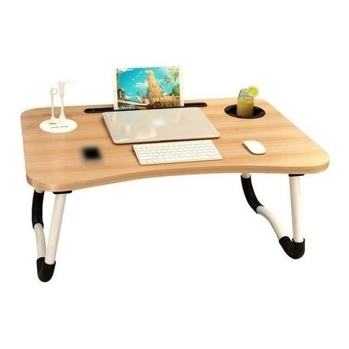 Mesa Desayuno Plegable Con Posa Vaso + Ranura Tablet