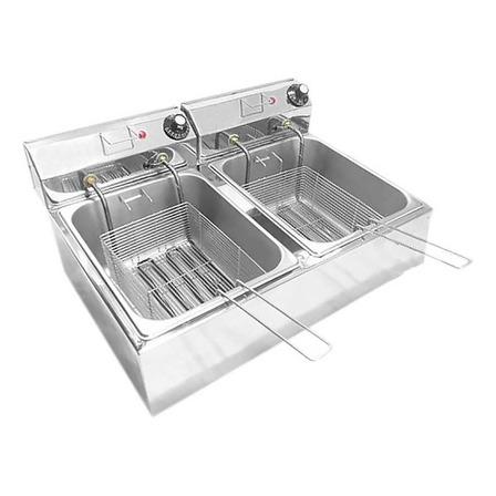 Fritadeira industrial elétrica Ipe Cozinhas Master Dupla 14L 14L prata 220V