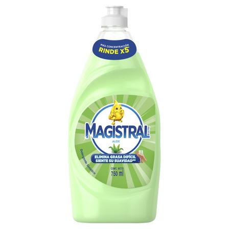 Detergente Magistral Ultra Aloe sintético en botella 750mL