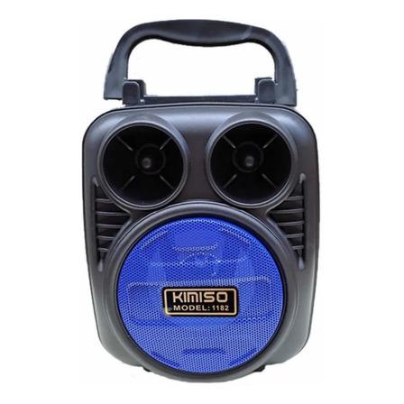 Alto-falante Kimiso KMS-1182 portátil com bluetooth preto