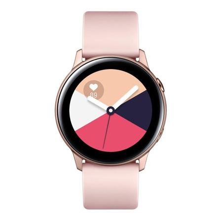 """Samsung Galaxy Watch Active (Bluetooth) 1.1"""" caja 40mm de  aluminio malla de  fluoroelastómero y bisel  rose gold SM-R500"""