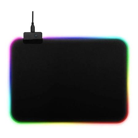 Mouse Pad gamer Exbom MP-LED2535 de borracha 350mm x 250mm preto