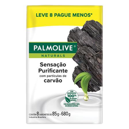 Sabão em barra Palmolive Naturals Sensação Purificante Carvão de 85 g pacote x 8