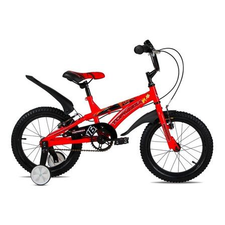 BMX infantil TopMega Kids Crossboy R16 frenos v-brakes color rojo con ruedas de entrenamiento