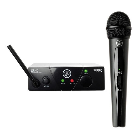 Microfone sem fio AKG WMS40 Mini Vocal Set cardióide preto