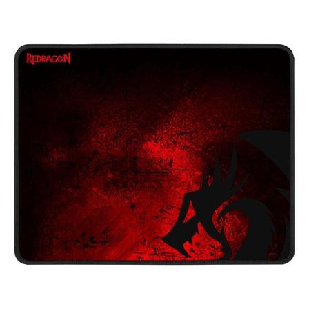 Mouse Pad Redragon P016 Pisces de borracha e tecido 260mm x 330mm x 3mm black/red