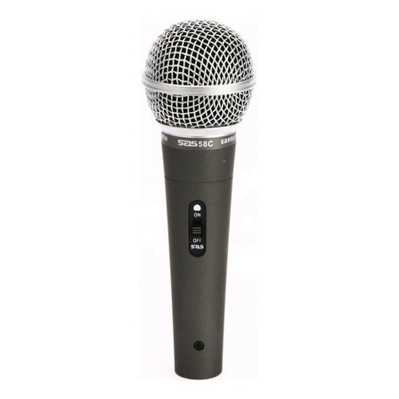 Microfone Santo Angelo SAS 58C cardióide preto