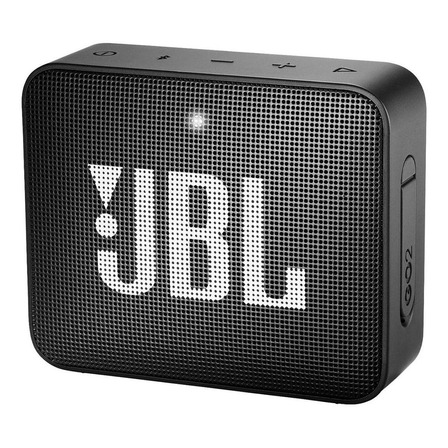 Parlante JBL Go 2 portátil con bluetooth  midnight black